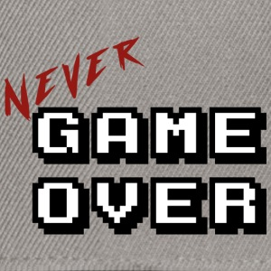 Aldri game over hvit - Snapback-caps