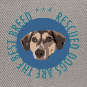 TS_Rescued is the best blue - Snapback Cap