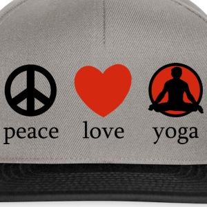 Peace Love Yoga - Snapback-caps