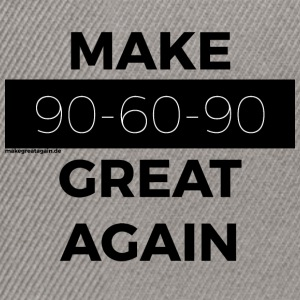 MAKE 90-60-90 GREAT AGAIN black - Snapback Cap