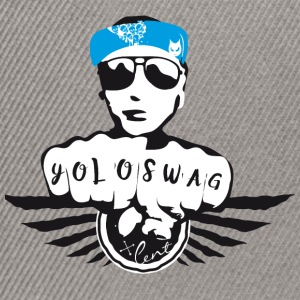 swag yolo fist cool ganster rapping street tatoo gra - Snapback Cap