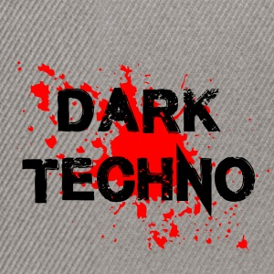 Dark Techno with blood spatter - Snapback Cap