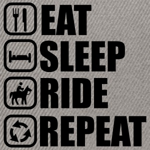 Eat, sleep, ride, riding, horse - Snapback Cap