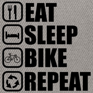 Eat sleep bike - Bicycle - Snapback Cap