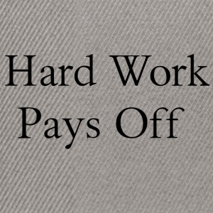 Hard Work - Snapback Cap