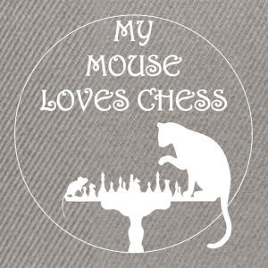 My mouse loves Chess - Snapback Cap