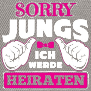SORRY JUNGS ICH HEIRATE - Snapback Cap