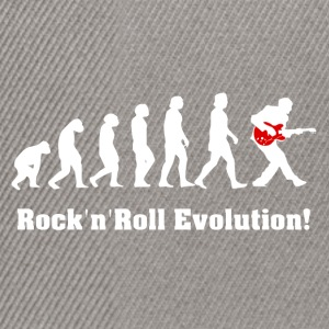 rockandroll evolution, rock, guitar - Snapback Cap