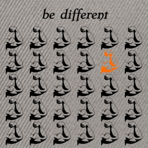 "Fitness Shirt Fitness Accessories ""be different"" - Snapback Cap"