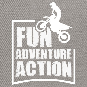 Enduro FUN ADVENTURE ACTION - Snapback Cap