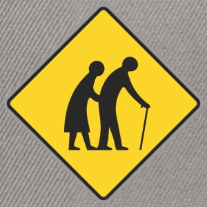 Road sign Old people - Snapback Cap