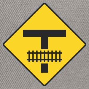 Road Sign train way t - Snapback Cap