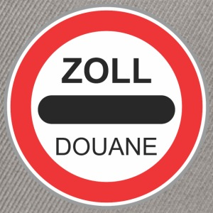 Road sign zoll douane - Casquette snapback