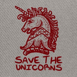 Unicorn - Save The Unicorns - Snapback Cap