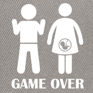 GAME OVER Pregnant - Snapback Cap