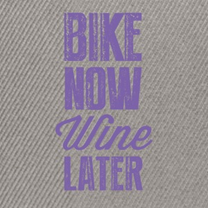 Bike now wine later OK - Snapback Cap