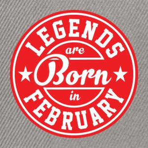 Legends February born birthday gift birth - Snapback Cap