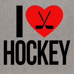 I LOVE HOCKEY - Snapback-caps