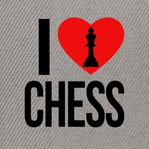 I LOVE CHESS - Snapback-caps
