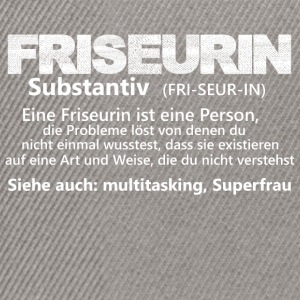 friseurinisteineperson substantiv - Snapback Cap