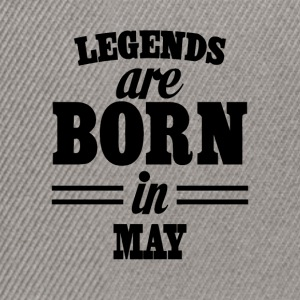 Legends are born in MAY - Snapback Cap