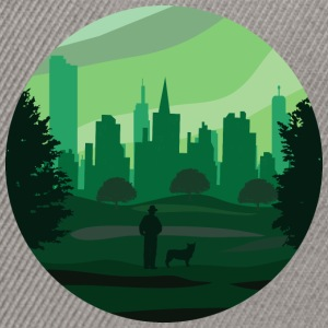 a green city - Snapback Cap