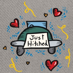 Just Married Just Hitched - Snapback Cap