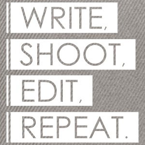 Write, Shoot, Edit, Repeat - Snapback Cap