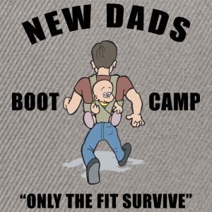 New Dad Boot Camp Only The Fit Survive - Snapback Cap