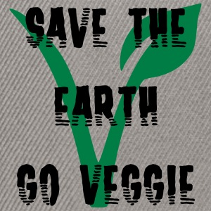 Save the earth go vegetarian - Snapback Cap