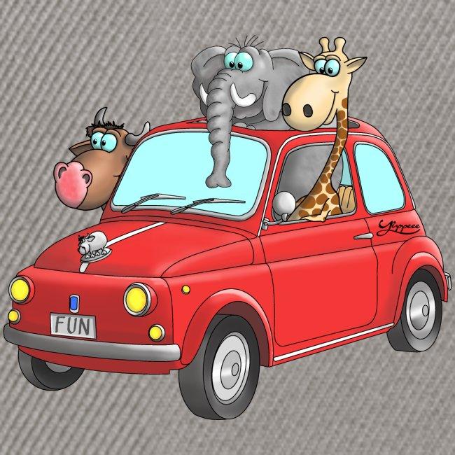 Giraffe - Elefant - Bulle im Auto Kinder