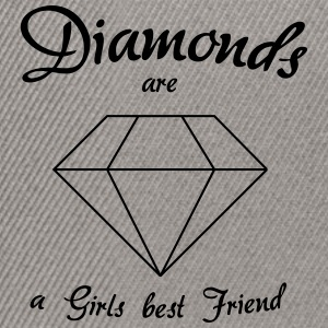Diamanter er en Girls Best Friend - Snapback-caps