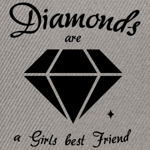 Diamonds are a Girls Best Friend - Snapback Cap