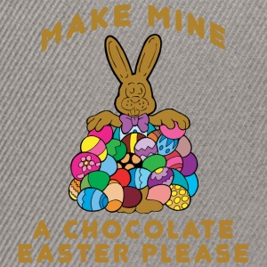 Easter Make Mine A Chocolate Easter Please - Snapback Cap