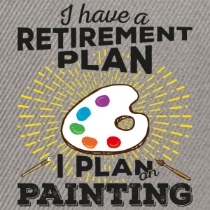Retirement plan painting (dark) - Snapback Cap
