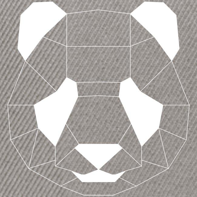 Panda Geometrisch weiss