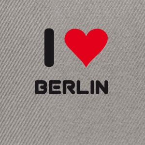 I love berlin heart Germany City love holidays B - Snapback Cap