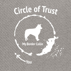 Grappig Border Collie Shirt - Circle of Trust - Snapback cap