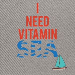 Sailing: I need Vitamin Sea - Snapback Cap