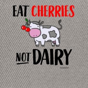Eat Cherries Not Dairy - Snapback Cap