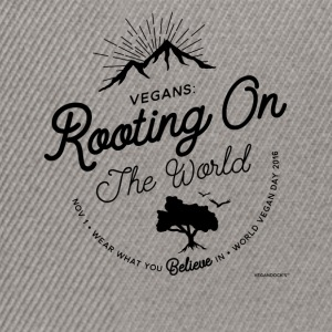 Vegans: Rooting On The World - Snapback Cap