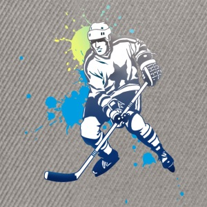 hockey splatter hockey player puck attack cool - Snapback Cap