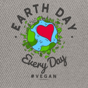 Earth Day Every Day Tshirt #vegan - Snapback Cap