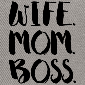 WIFE. MOM. BOSS - Casquette snapback