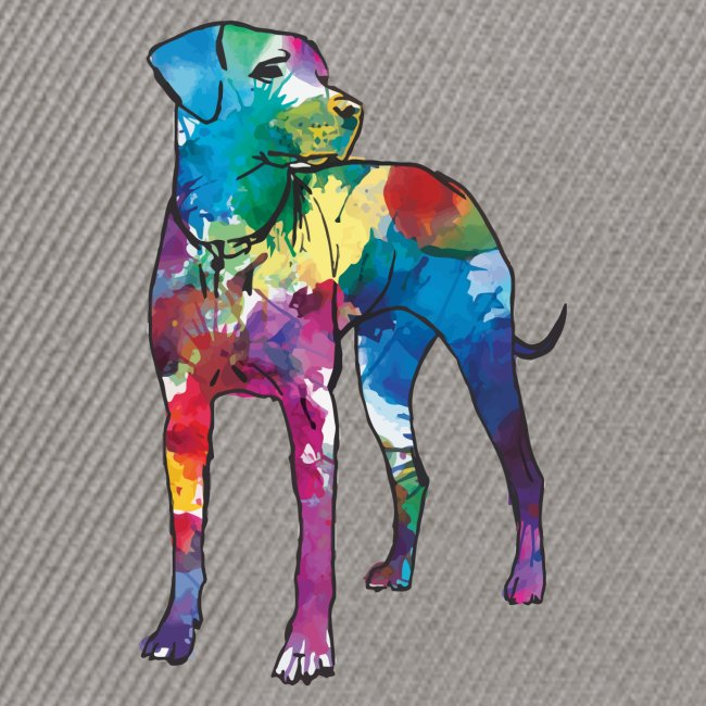 Labrador Hund Hunde bunte Silhouette
