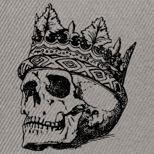 death and crown of head Drawing - Snapback Cap