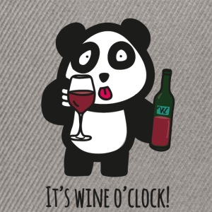 Drinking Panda - It's wine o'clock - Snapback Cap