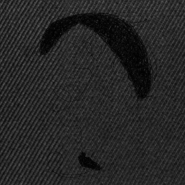 Paraglider scribble black