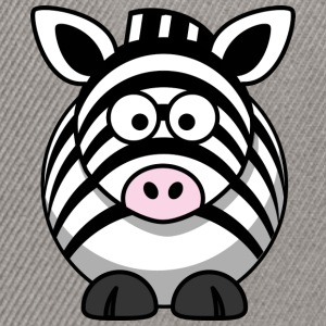 Thick zebra with big eyes comic style - Snapback Cap