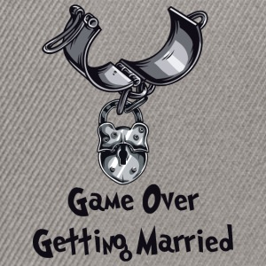 Game Over Getting Married - Casquette snapback